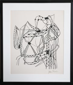 Many Cities from the Rilke Portfolio, Framed Lithograph by Ben Shahn