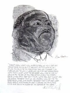 Martin Luther King, I Have A Dream - Stefan Martin Black & White Portrait