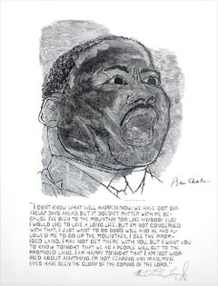 MARTIN LUTHER KING JR. I Have A Dream, Black and White Portrait, Civil Rights