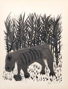 One Must Know the Animals from the Rilke Portfolio, Ben Shahn