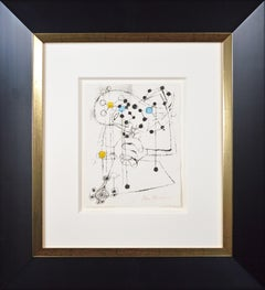 'Scientist' original screenprint figure and constellations signed by Ben Shahn
