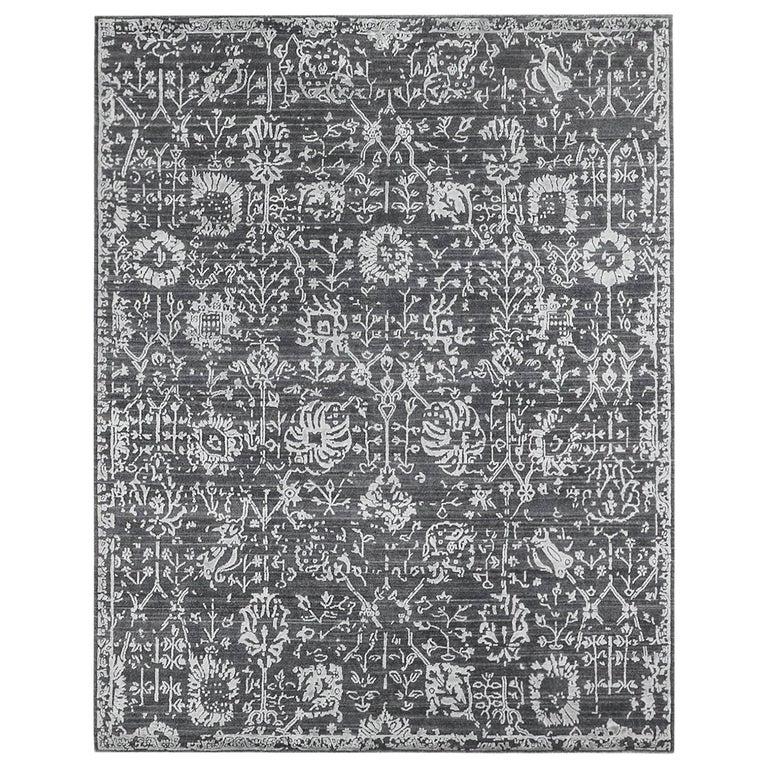 For Sale: Gray (Abra Carbon) Ben Soleimani Abra Rug 10'x14'