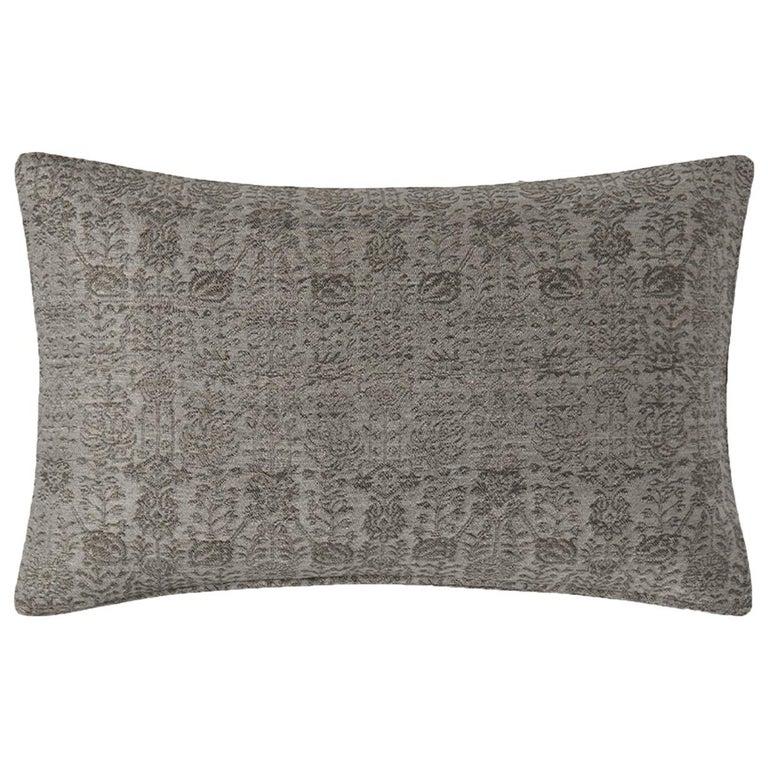 """Ben Soleimani Abra Pillow Cover - Graphite 16""""x24"""" For Sale"""