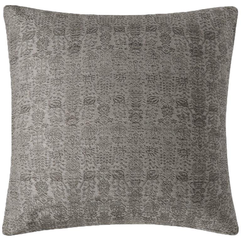 """Ben Soleimani Abra Pillow Cover - Graphite 26""""x26"""" For Sale"""