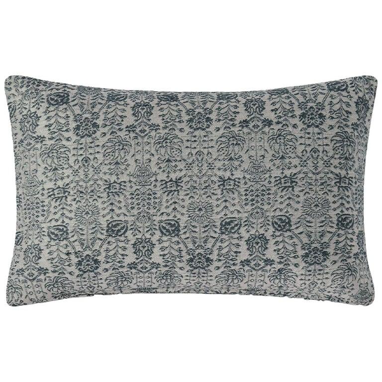 "Ben Soleimani Abra Pillow Cover - Silver 13""x21"" For Sale"