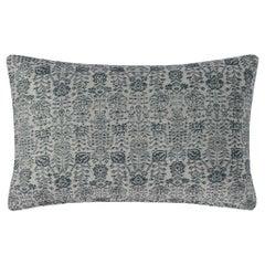 """Ben Soleimani Abra Pillow Cover - Silver 16""""x24"""""""