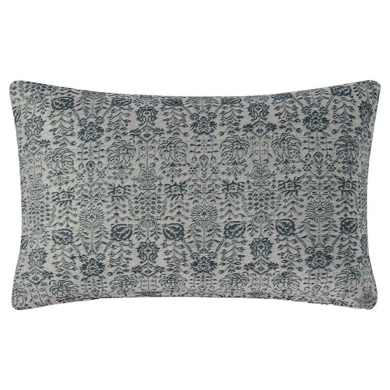 "Ben Soleimani Abra Pillow Cover - Silver 16""x24"" For Sale"