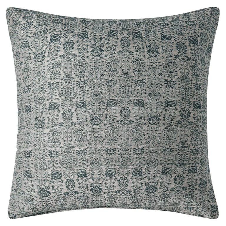 "Ben Soleimani Abra Pillow Cover - Silver 22""x22"" For Sale"