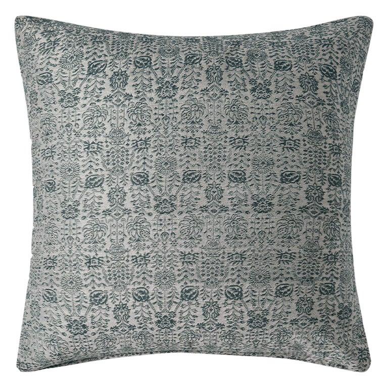 "Ben Soleimani Abra Pillow Cover - Silver 26""x26"" For Sale"