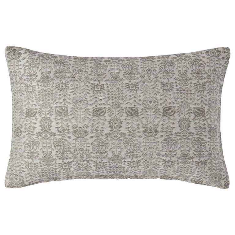 """Ben Soleimani Abra Pillow Cover - White 13""""x21"""" For Sale"""