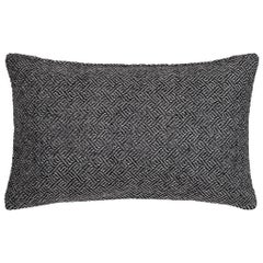 "Ben Soleimani Angled Diamond Pillow Cover - Charcoal 13""x21"""
