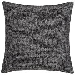"Ben Soleimani Angled Diamond Pillow Cover - Charcoal 22""x22"""