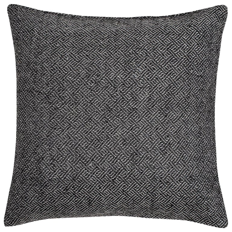 """Ben Soleimani Angled Diamond Pillow Cover - Charcoal 22""""x22"""" For Sale"""