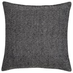 "Ben Soleimani Angled Diamond Pillow Cover - Charcoal 26""x26"""