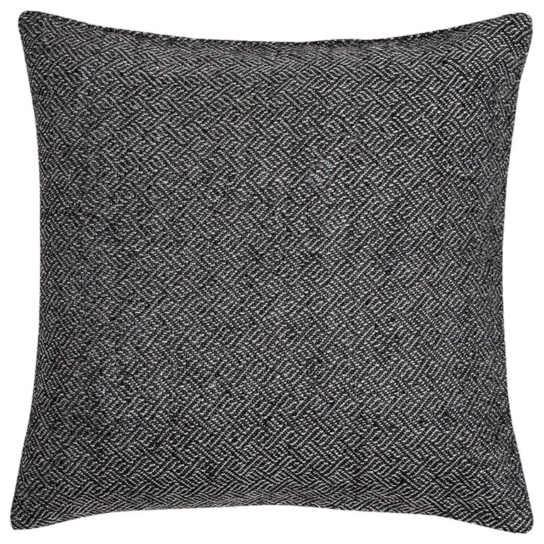 "Ben Soleimani Angled Diamond Pillow Cover - Charcoal 26""x26"" For Sale"