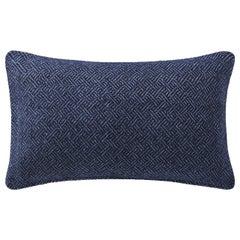 "Ben Soleimani Angled Diamond Pillow Cover - Navy 13""x21"""