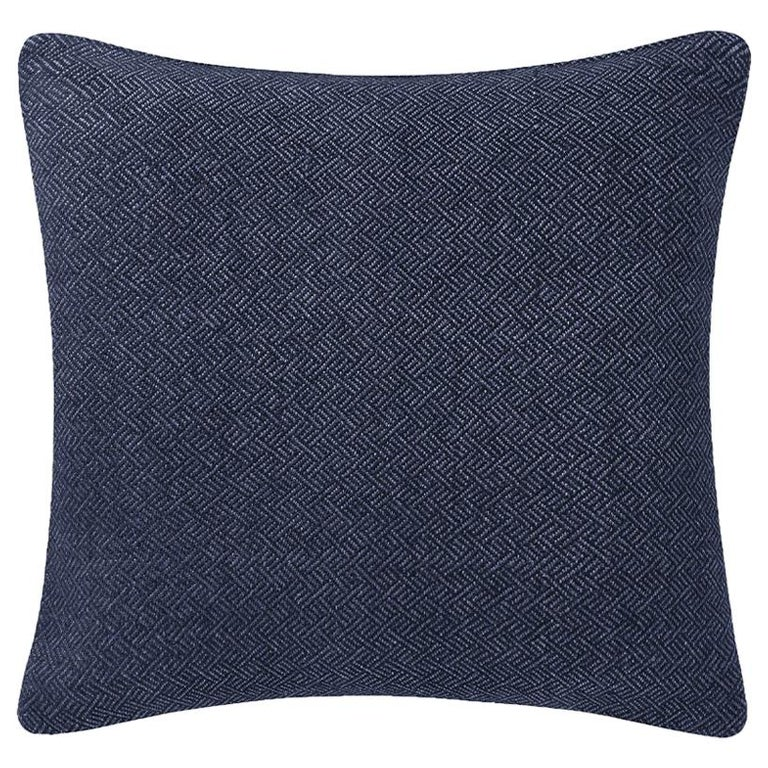 "Ben Soleimani Angled Diamond Pillow Cover - Navy 22""x22"" For Sale"