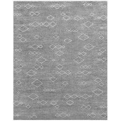 Ben Soleimani Arisa Rug– Moroccan Hand-knotted Plush Wool Carbon/Mist 12'x15'