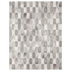 Ben Soleimani Arlequin Hide Rug - Grey 12'x15'