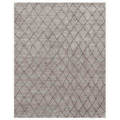Ben Soleimani Arlequin Rug– Ultra-plush Hand-knotted Viscose Charcoal 6'x9'