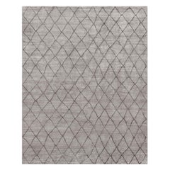 Ben Soleimani Arlequin Rug– Ultra-plush Hand-knotted Viscose Charcoal 8'x10'