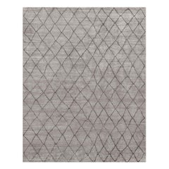 Ben Soleimani Arlequin Rug– Ultra-plush Hand-knotted Viscose Charcoal 9'x12'