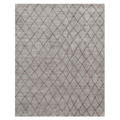 Ben Soleimani Arlequin Rug– Ultra-plush Hand-knotted Viscose Charcoal 12'x15'
