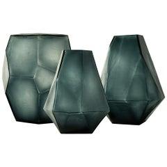 Ben Soleimani Arroyo Glass Vase in Ocean Blue - Medium