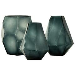 Ben Soleimani Arroyo Glass Vase in Ocean Blue - Small