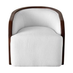 Ben Soleimani Artemis Barrel Upholstered + Wood Trim Chair