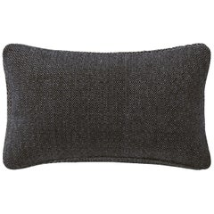 "Ben Soleimani Basketweave Pillow Cover - Espresso 13""x21"""