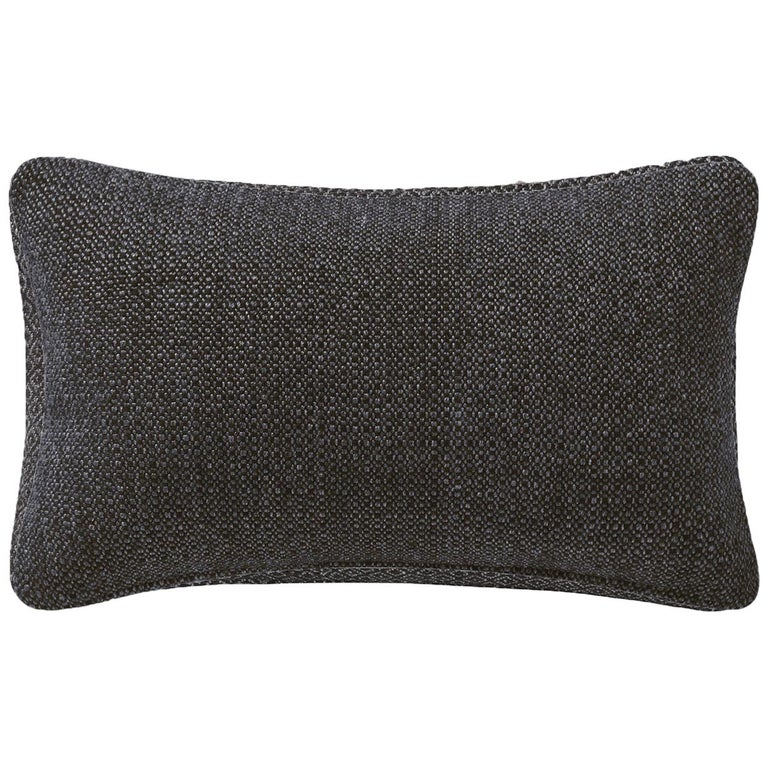 "Ben Soleimani Basketweave Pillow Cover - Espresso 13""x21"" For Sale"