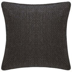 "Ben Soleimani Basketweave Pillow Cover - Espresso 22""x22"""