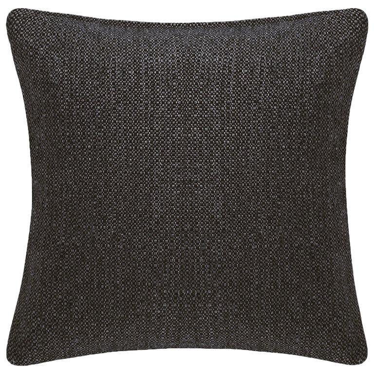 """Ben Soleimani Basketweave Pillow Cover - Espresso 22""""x22"""" For Sale"""