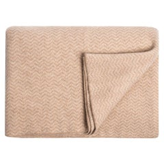 Ben Soleimani Cashmere Chevron Throw - Sand
