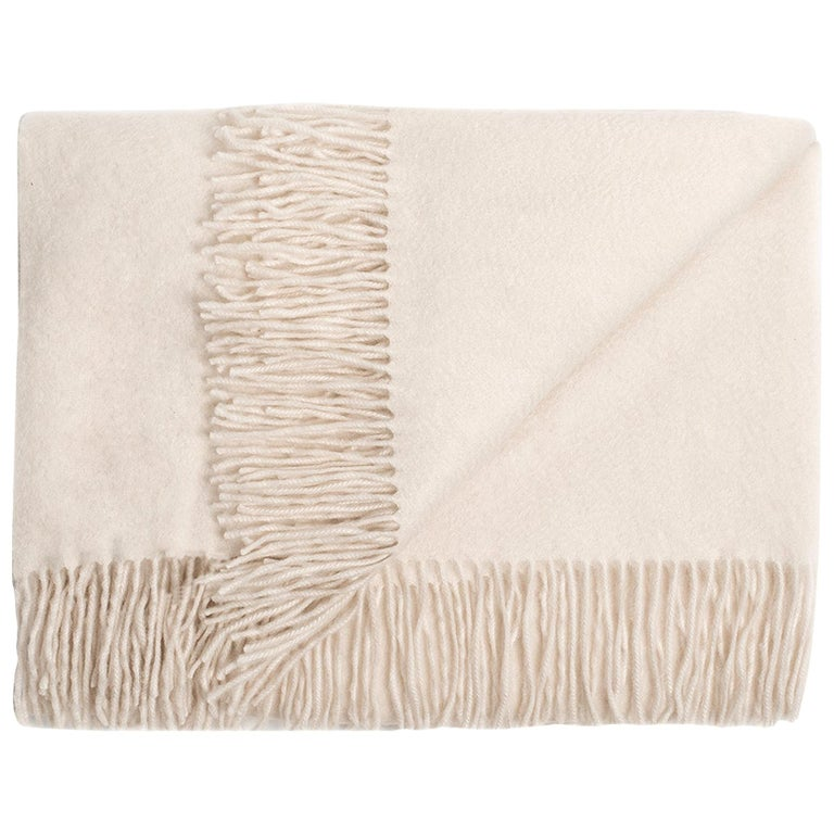 Ben Soleimani Cashmere Oversized Throw - Ivory For Sale