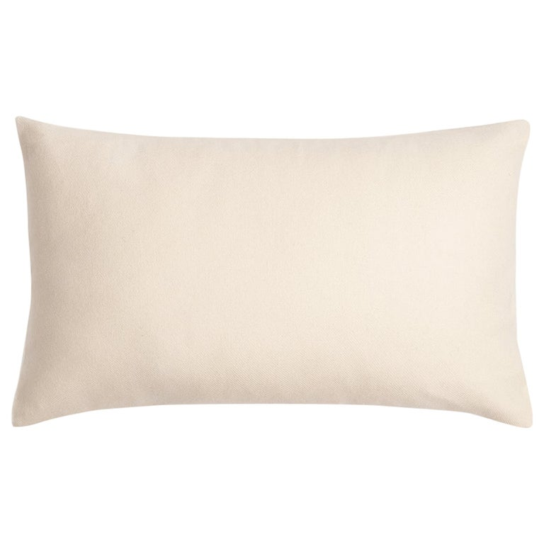 """Ben Soleimani Cashmere Pillow Cover - Ivory 13""""x21"""" For Sale"""