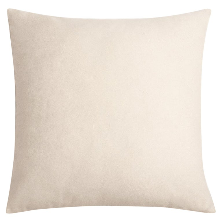 """Ben Soleimani Cashmere Pillow Cover - Ivory 22""""x22"""" For Sale"""