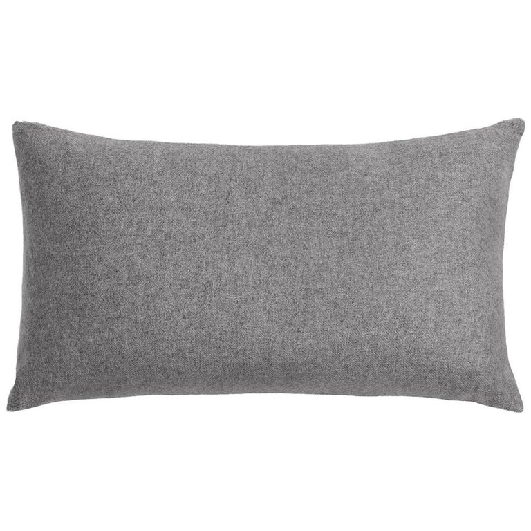 "Ben Soleimani Cashmere Pillow - Grey 13""x21"" For Sale"