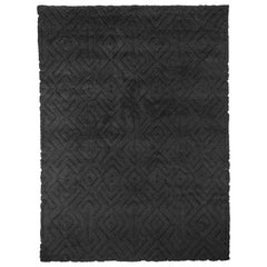 BBen Soleimani Cava Rug– Moroccan Hand-knotted Ultra-plush Charcoal 10'x14'