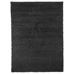 Ben Soleimani Cava Rug– Moroccan Hand-knotted Ultra-plush Charcoal 12'x15'