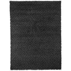 Ben Soleimani Cava Rug– Moroccan Hand-knotted Ultra-plush Charcoal 9'x12'