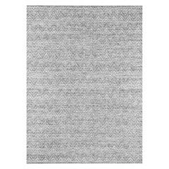 Ben Soleimani Ceyah Rug– Hand-woven Plush Textured Wool + Linen Charcoal 10'x14'