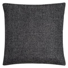 "Ben Soleimani Chevron Pillow - Charcoal 22""x22"""