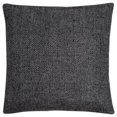 "Ben Soleimani Chevron Pillow - Charcoal 26""x26"""