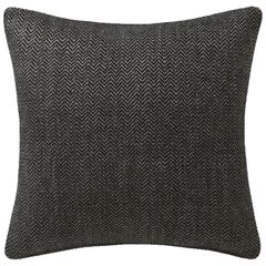 "Ben Soleimani Chevron Pillow Cover - Dark Green 26""x26"""
