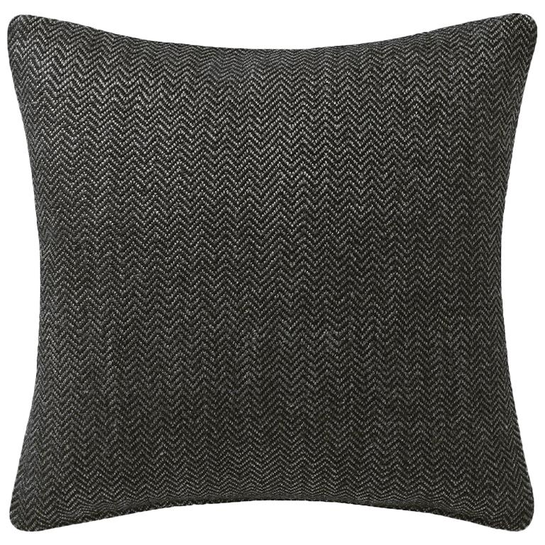 "Ben Soleimani Chevron Pillow Cover - Dark Green 26""x26"" For Sale"