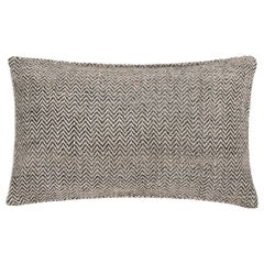 "Ben Soleimani Chevron Pillow - Graphite 13""x21"""