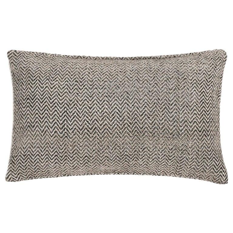 """Ben Soleimani Chevron Pillow - Graphite 13""""x21"""" For Sale"""