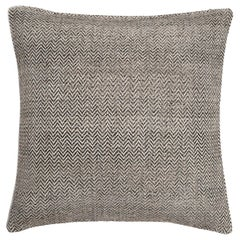 "Ben Soleimani Chevron Pillow - Graphite 26""x26"""